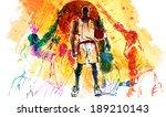 illustration of sports high five | Shutterstock . vector #189210143