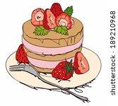 cake on white background | Shutterstock . vector #189210968
