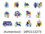 people working on computer and... | Shutterstock .eps vector #1892113273