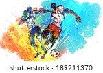 illustration of sports  soccer | Shutterstock . vector #189211370