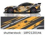 sport car decal wrap design... | Shutterstock .eps vector #1892120146