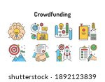 Crowdfunding Color Line Icons...
