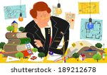 construction and business | Shutterstock . vector #189212678