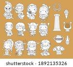 a vector of many greek gods in...   Shutterstock .eps vector #1892135326