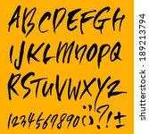 alphabet | Shutterstock .eps vector #189213794