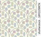 art deco seamless pattern of...   Shutterstock .eps vector #1892158876