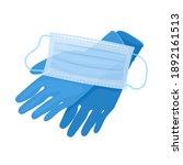 medical gloves and mask... | Shutterstock .eps vector #1892161513