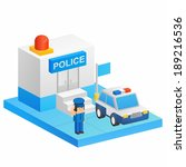 police car and police   Shutterstock . vector #189216536