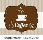 coffee design over brown...   Shutterstock .eps vector #189217043