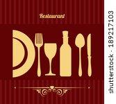 restaurant design over  red... | Shutterstock .eps vector #189217103