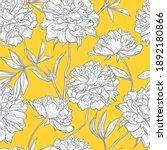 peony flowers sketch. vector...   Shutterstock .eps vector #1892180866