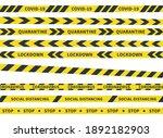 coronavirus yellow stripes.... | Shutterstock .eps vector #1892182903