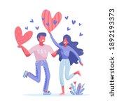 happy valentine's day concept...   Shutterstock .eps vector #1892193373