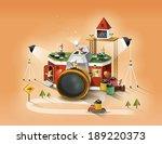 illustration of imagination and ... | Shutterstock . vector #189220373