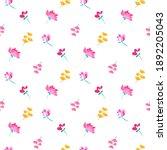 spring  summer  easter little... | Shutterstock .eps vector #1892205043