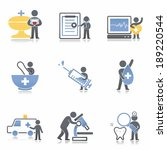 health icons | Shutterstock . vector #189220544