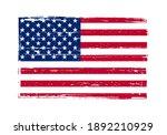 vintage scratched flag of usa. | Shutterstock .eps vector #1892210929