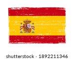 vintage scratched flag of spain. | Shutterstock .eps vector #1892211346