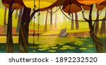 autumn landscape with swamp in... | Shutterstock .eps vector #1892232520