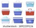 handheld ice cooler boxes flat...   Shutterstock .eps vector #1892239126
