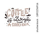 coffee lettering typography.... | Shutterstock .eps vector #1892256916