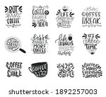 coffee lettering typography set.... | Shutterstock .eps vector #1892257003