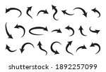 curve arrow vector icons  set... | Shutterstock .eps vector #1892257099