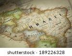 magnifying brazil on map | Shutterstock . vector #189226328