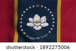 mississippi flag waving in the... | Shutterstock . vector #1892275006