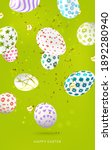 happy easter  background with...   Shutterstock .eps vector #1892280940