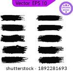 black line  grunge brush... | Shutterstock .eps vector #1892281693
