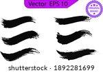 black line  grunge brush... | Shutterstock .eps vector #1892281699