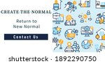 new normal concept web banner....