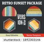 retro sunset with grunge... | Shutterstock .eps vector #1892303146