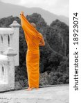 buddhist monk | Shutterstock . vector #18923074