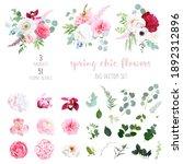 pink hydrangea  rose  white... | Shutterstock .eps vector #1892312896