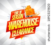 end of season warehouse... | Shutterstock . vector #1892325820