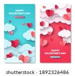 happy valentine's day vertical... | Shutterstock .eps vector #1892326486