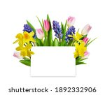 Empty Card And Spring Flowers...