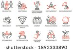 vector set of linear icons... | Shutterstock .eps vector #1892333890
