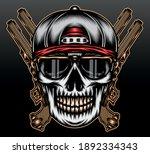 gangster skull head. premium... | Shutterstock .eps vector #1892334343
