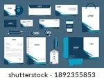 corporate brand identity mockup ...   Shutterstock .eps vector #1892355853