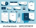 corporate brand identity mockup ... | Shutterstock .eps vector #1892355859