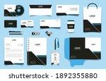 corporate brand identity mockup ... | Shutterstock .eps vector #1892355880