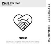 handshake in heart shape....   Shutterstock .eps vector #1892361613