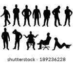 business man silhouette | Shutterstock .eps vector #189236228
