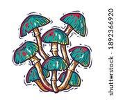 vector illustration of fungi.... | Shutterstock .eps vector #1892366920