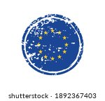 grunge rubber stamp with eu... | Shutterstock .eps vector #1892367403