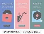 store of vinyl records. musical ...   Shutterstock .eps vector #1892371513