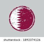 grunge rubber stamp with qatar... | Shutterstock .eps vector #1892374126